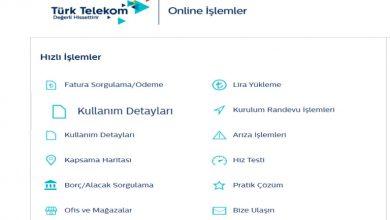 Türk Telekom Arama Dökümü