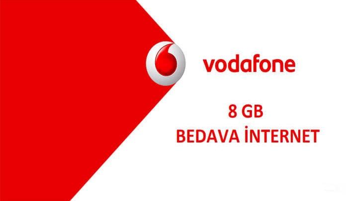 vodafone 8 gb bedava internet