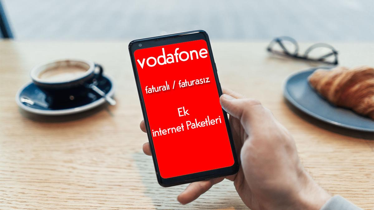 vodafone ek internet paketleri