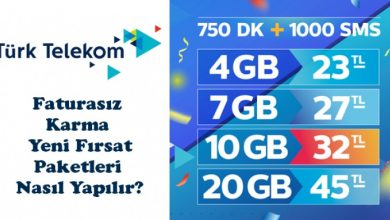 Türk Telekom Faturasız Paketler ve Tarifeler