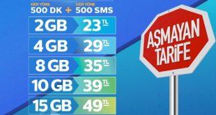 Türk Telekom Aşmayan Tarifeler Duran Tarifeler