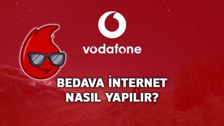 vodafone bedava internet nasıl yapılır