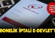 e-devlet abonelik iptali