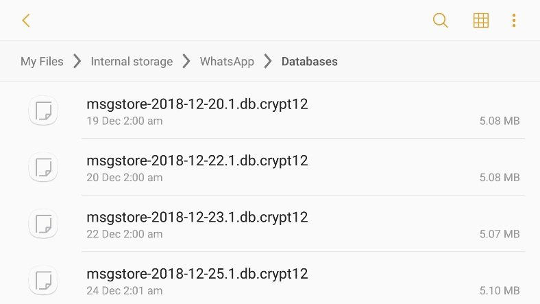 whatsapp yerel yedekleme