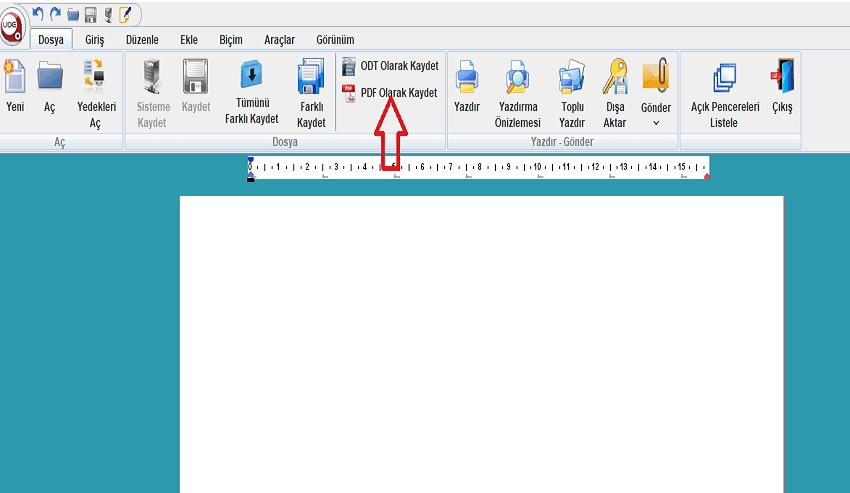 udf dosyayı pdf ye çevirme