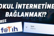 okul internetine bağlanma
