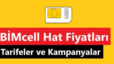 BİMcell Yeni Hat Fiyatları