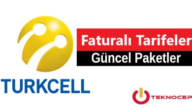 Turkcell Faturalı Tarifeler