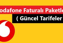 Vodafone Faturalı Paketler